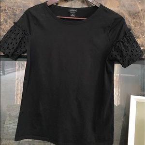 Ann Taylor top with eyelet sleeves